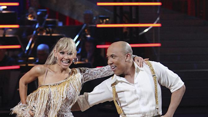 """Hines Ward and Kym Johnson perform the Cha-Cha-Cha on """"Dancing with the Stars."""""""