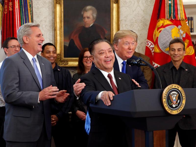 Hock Tan Donald Trump