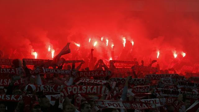 World Cup - English and Polish FAs fined for Wembley flares
