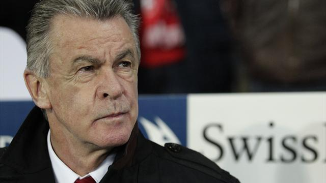 World Cup - Switzerland coach Hitzfeld to quit after Brazil