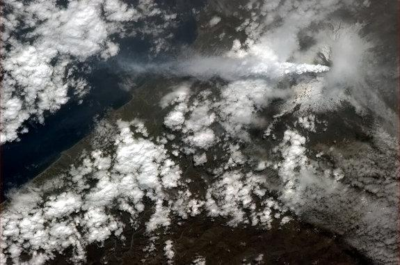 Astronaut Snaps Photo of Mount Etna Erupting
