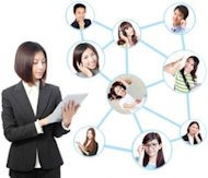 Ways You Can Show Networking Strength on a Resume and Cover Letter image asian businesswoman networking online