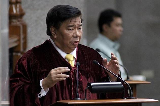 "Verdict: Guilty. ""He has lost his moral fitness as leader."" -Senator Franklin Drilon"