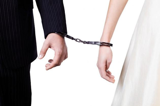 Couple arrested for attacking staff – on their wedding day