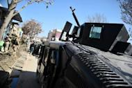 Afghan special forces prepare to move to the scene of attacks in Kabul, on April 15. Kabul was hit by a wave of attacks in three areas Sunday, with embassies and foreign military bases coming under fire in what Taliban insurgents said was the start of their spring offensive
