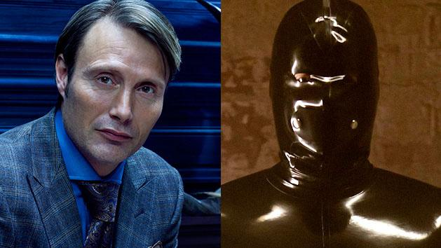 """Mads Mikkelsen as Dr. Hannibal Lecter in """"Hannibal"""" and Rubberman in """"American Horror Story"""""""