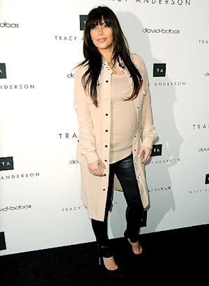 Kim Kardashian Wears Tight Leather Pants, Long Beige Trench Over Baby Bump: Picture