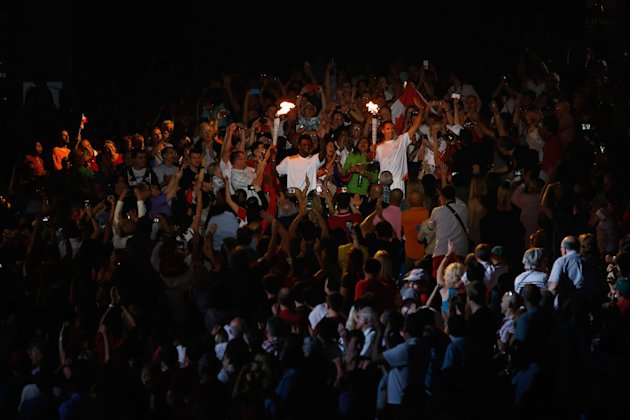 A brought-to-their-feet opening ceremony at the Pan Am Games was bad news for some attendees. (Getty)