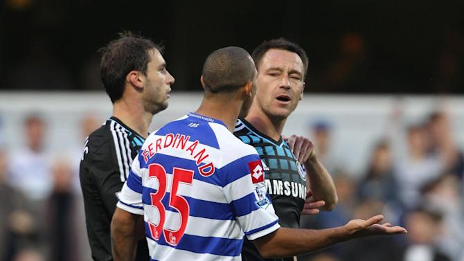 John Terry, right, and QPR's Anton Ferdinand during last season's Barclays Premier League clash