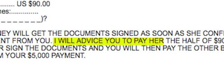 Spam email with poor grammar.