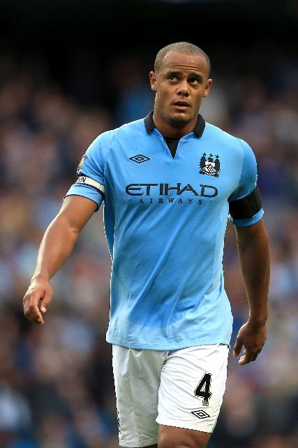 Manchester City are sweating over the fitness of Vincent Kompany
