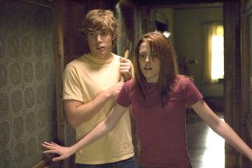 Dustin Milligan and Kristen Stewart in Columbia Pictures' The Messengers