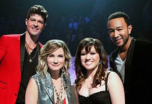 Robin Thicke, Jennifer Nettles, Kelly Clarkson and John Legend | Photo Credits: ABC