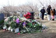 The grave site of singer Whitney Houston is pictured at the Fairview Cemetery, on February 20, in Westfield, New Jersey. Grammy-winning pop legend died from accidental drowning in her hotel bathtub after taking cocaine which could have triggered a heart attack, according to coroners