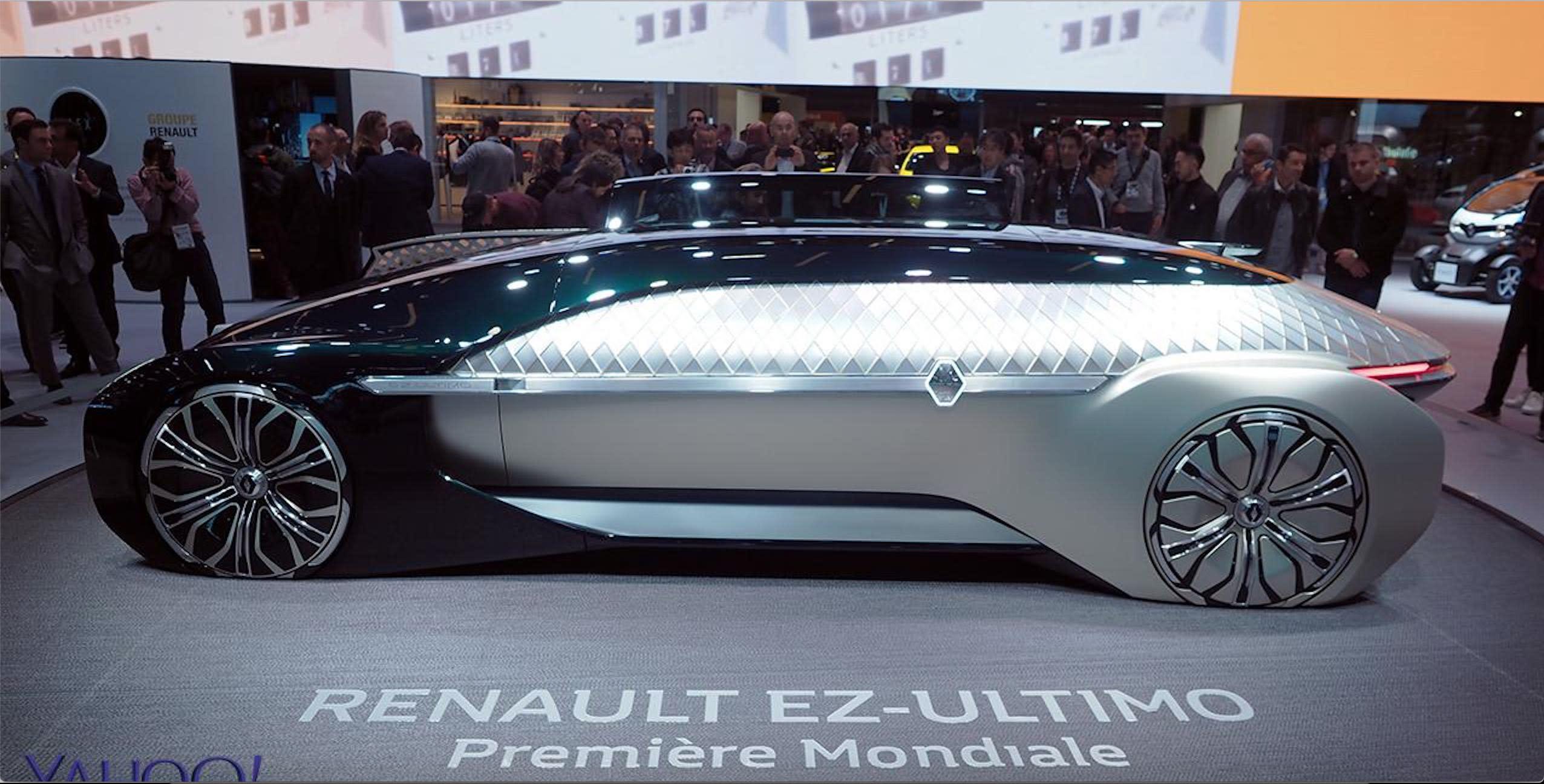 【巴黎車展直擊】Renault豪華自駕概念車EZ-Ultimo協同法系最速前驅Megane RS出擊!
