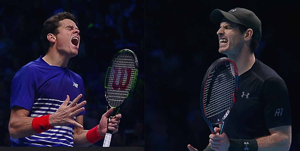 The stress and strain was apparent on both faces throughout (TennisTV.com/photo illustration)