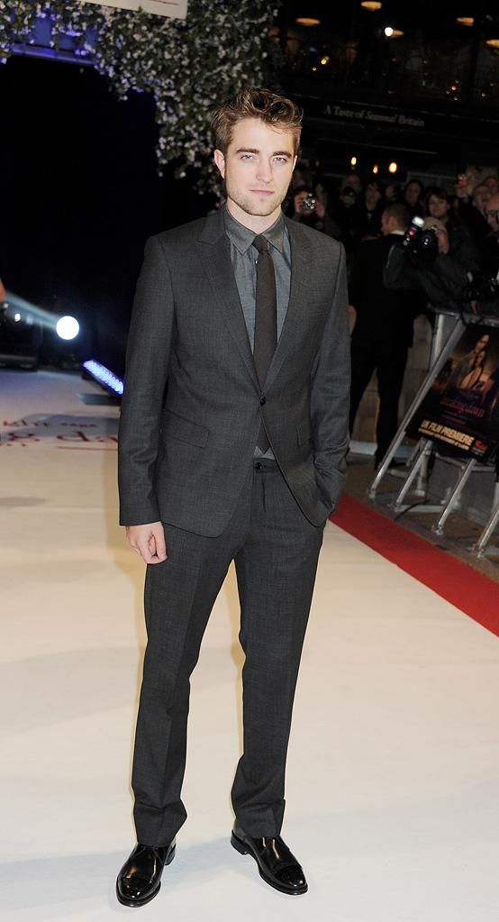 The Twilight Saga Breaking Dawn Part 1 2011 UK Premiere Robert Pattinson