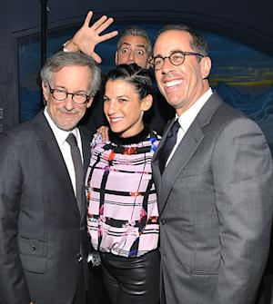 George Clooney Photobombs Steven Spielberg and Jerry Seinfeld: Picture