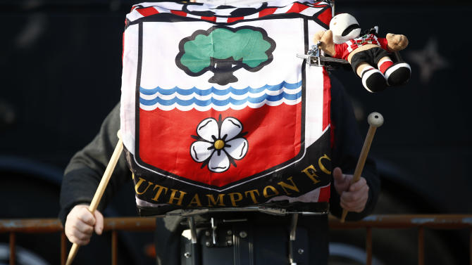 Drummer from the Southampton band performs before the match
