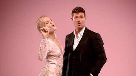 Jessie J and Robin Thicke in 'Calling All Hearts'