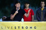 Disgraced cyclist Lance Armstrong speaks at the annual Team Livestrong Challenge in Austin, Texas on October 21, 2012. Late last year, cancer survivor Armstrong resigned as chairman of the Livestrong foundation he created