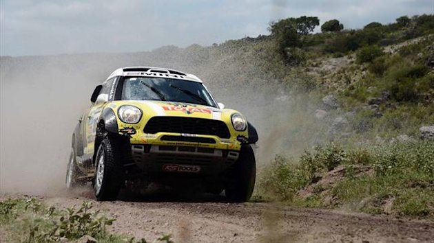 Mini driver Nani Roma of Spain at the 2013 Dakar Rally (AFP)