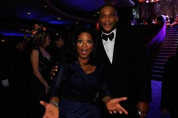 Tyler Perry Gets Oprah Winfrey in Bed With Roses