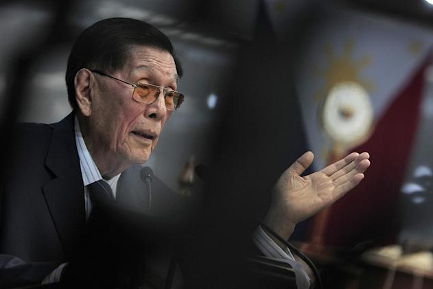 Senate President Juan Ponce Enrile on Trillanes: 'My God, this guy is a fraud!' (Photo by Joseph Vidal, PRIB, NPPA Images)