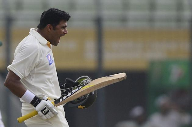 Pakistan's Azhar Ali scored a double century during the second day of the second Test match against Bangladesh on May 7, 2015