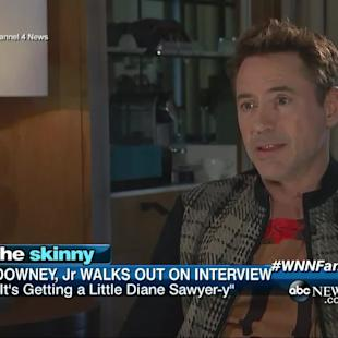 Robert Downey Jr. Walks Out of Interview