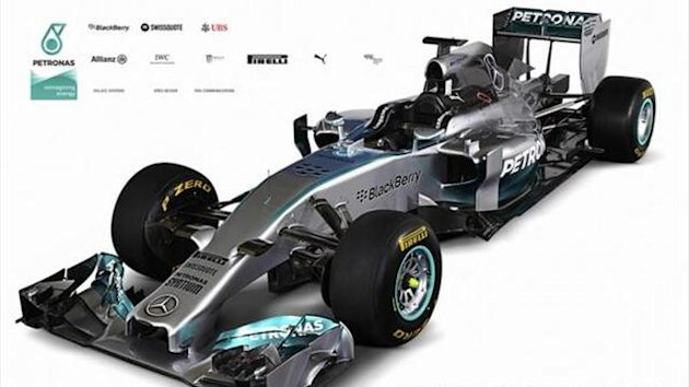 Mercedes revealed its 2014 Formula 1 challenger, the F1 W05 (Twitter: MercedesAMGF1)