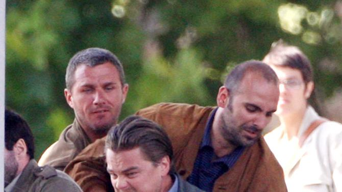 Dicaprio Leonardo Paris Film Set