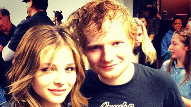 Chloe Moretz and Ed Sheeran