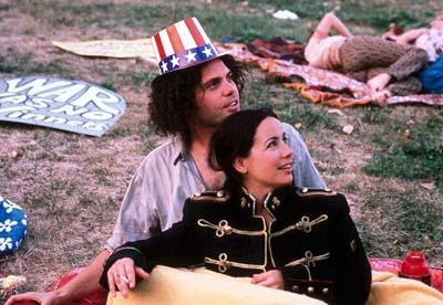 Vincent D'Onofrio as Abbie Hoffman and Janeane Garofalo as Anita Hoffman in Lions Gate's Steal This Movie!