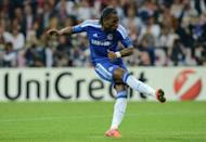 Football star Didier Drogba, pictured on May 19, will arrive in China on Saturday to take up his new role at Shanghai Shenhua, his club said, amid high hopes he can reignite the 13th-placed team's season