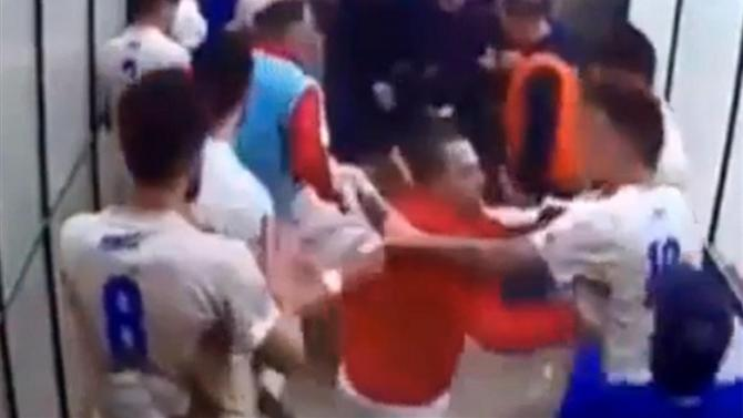 Serie A - Watch as a football derby match descends into a chaotic mass brawl with 59 suspended
