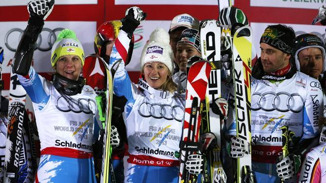 Alpine Skiing - Austria win team event at Worlds