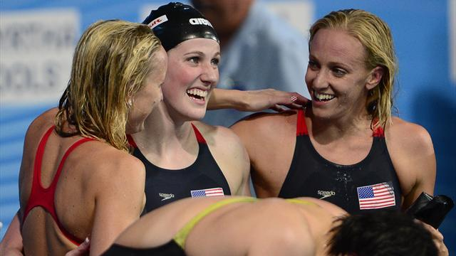Swimming - Franklin becomes first woman to win six golds at one worlds