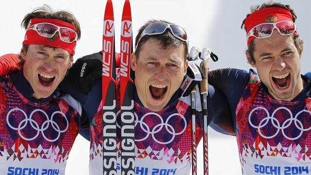 Cross-Country Skiing - Russians sweep men's 50 km