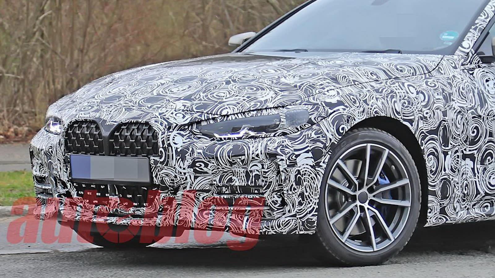全新BMW 4系列實車曝光 更張狂進氣格柵超吸睛