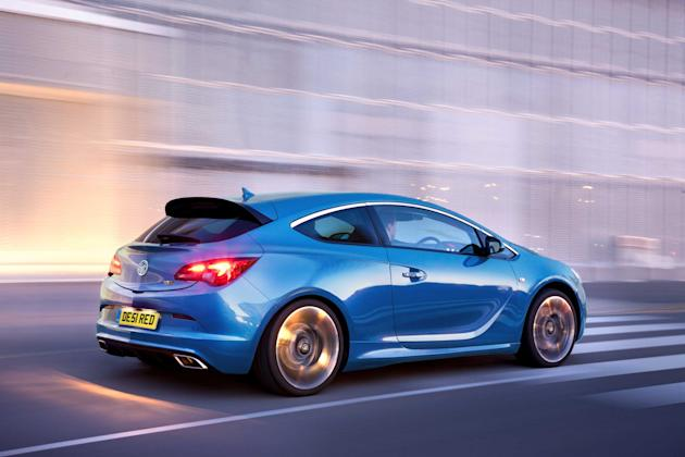 Vauxhall Astra VXR: 	With a storming 276bhp from its turbocharged 2-litre engine Vauxhall's VXR Astra doesn't often stand still long enough for folk to admire its racy styling. The body comes from the