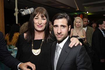 Anjelica Huston and Jason Schwartzman at the Los Angeles premiere of Fox Searchlight's The Darjeeling Limited