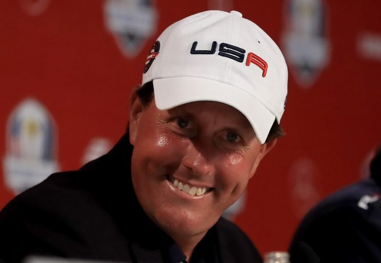 Phil Mickelson plans on being in France as a player in the 2018 Ryder Cup. (Getty Images)