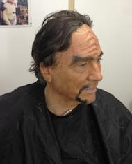 """Actor Richard Hatch, who plays a Klingon in the fan film """"Star Trek: Prelude to Axanar,"""" during a makeup test."""