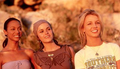 Zoe Saldana as Kit, Taryn Manning as Mimi and Britney Spears as Lucy in Paramount's Crossroads