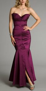 Windsor burgundy strapless dress, $169.90.