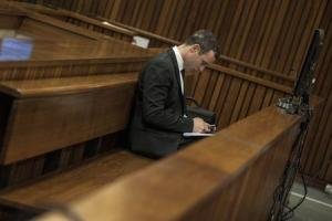Olympic and Paralympic track star Pistorius attends his trial at the North Gauteng High Court in Pretoria