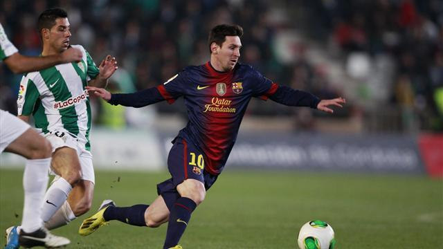 Liga - Messi keeps scoring as Barca win in Copa del Rey