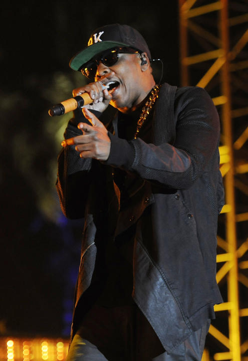 FILE - In this April 12, 2014 file photo, Jay Z at the 2014 Coachella Music and Arts Festival in Indio, Calif. Jay-Z and other high profile musicians are co-owners of Tidal, a music-streaming service