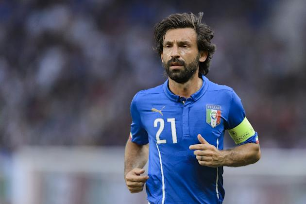 Italian World Cup-winner Andrea Pirlo, pictured on June 16, 2015, has joined MLS side New York City FC on a two-and-a-half-year deal after being granted a free transfer by Juventus